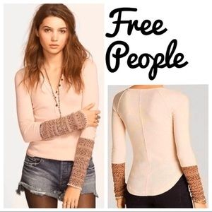 free people cuff thermal frosty pink